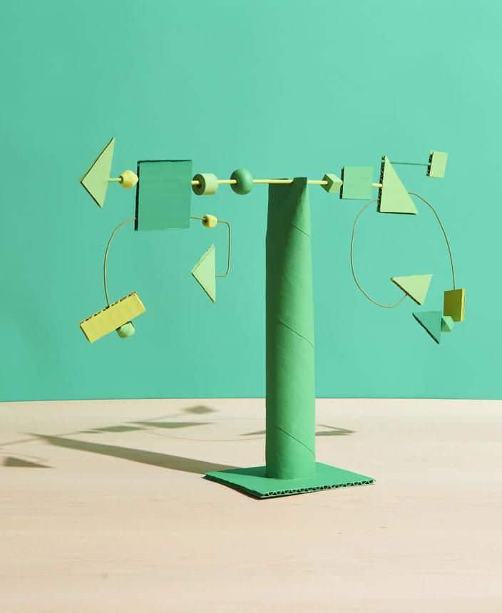 balance sculpture fall crafts for children