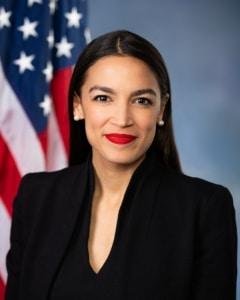 Congresswoman Alexandra Ocasio Cortez leading Latina politician and activitist